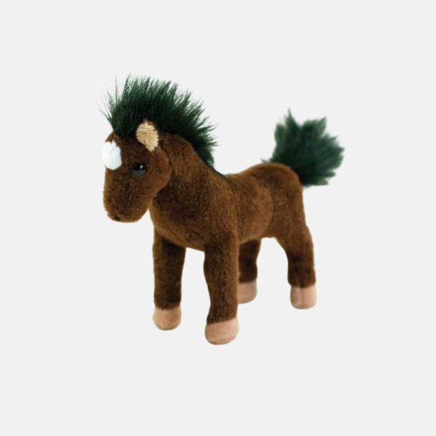 Brun/Svart/Vit Gosedjur ponny med reklamtryck