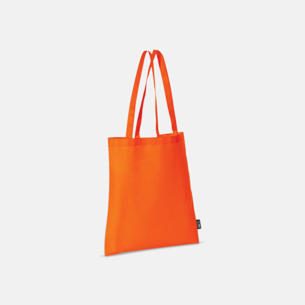 Orange (långa handtag) Billiga kassar med korta eller långa handtag - med reklamtryck