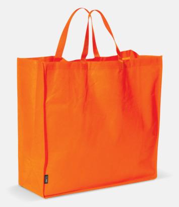 Orange Stor tygkasse med reklamtryck