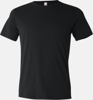 Svart Unisex t-shirts i spräckliga färger med reklamtryck