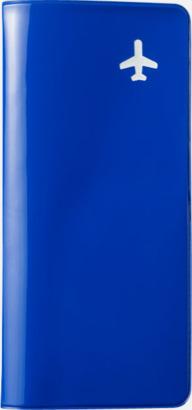 Blå (PMS 293C) Billiga resefodral med tryck