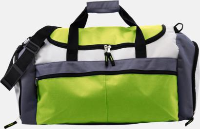 Limegrön Tuff och praktisk sportväska med tryck