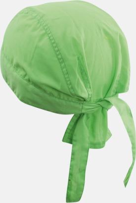 Limegrön (hatt) Bandanas i två varianter med reklambrodyr