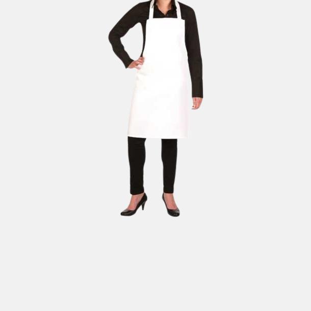 Vit (Standard) Köksförkläden i 2 storlekar med sublimation