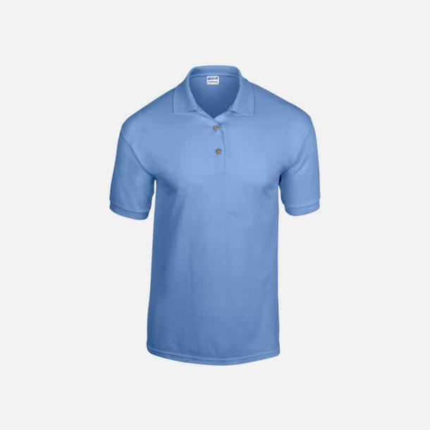 Carolina Blue Billiga herrpikétröjor med tryck