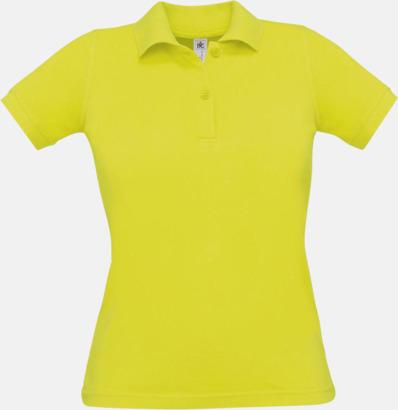 Pixel Lime Pikétröjor med tryck för dam