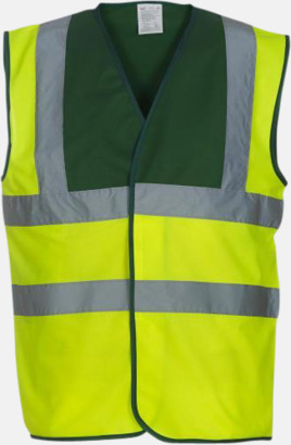 Hi-Vis Yellow/Paramedic Green Färgglada säkerhetsvästar med reklamtryck