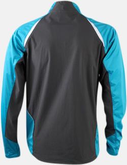 Turkos/Carbon (rygg) Vindtäta jackor med eget tryck
