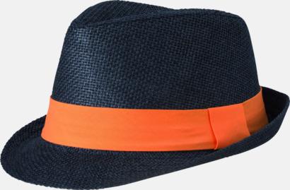 Svart/Orange Fina sommarhattar i många färger med reklambrodyr