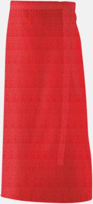 Röd (90 x 60 cm) Förkläden i 5 varianter med reklamtryck