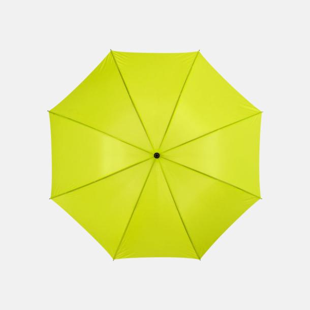 """Neongrön 30""""-stormparaplyer med reklamtryck"""