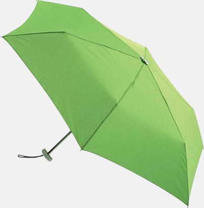 Ljusgrön Super slim kompaktparaplyer med tryck