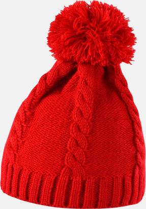 Röd Toppluvor med grovstickade ränder - med reklambrodyr