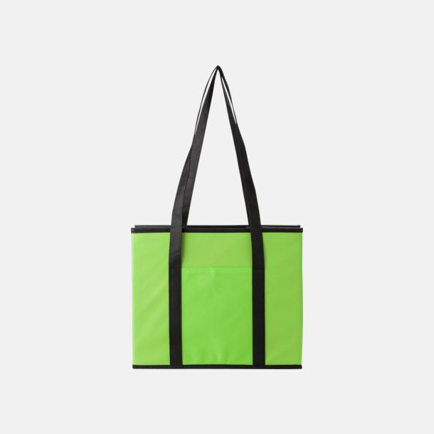 Limegrön Vikbara bilväskor med reklamtryck