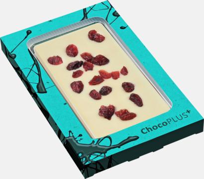 Tranbär (vit choklad) Lyxiga chokladkakor i många smaker med reklamtryck