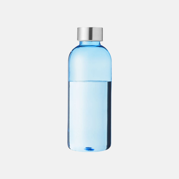 Transparent Blå/Silver Stilrena vattenflaskor med reklamtryck