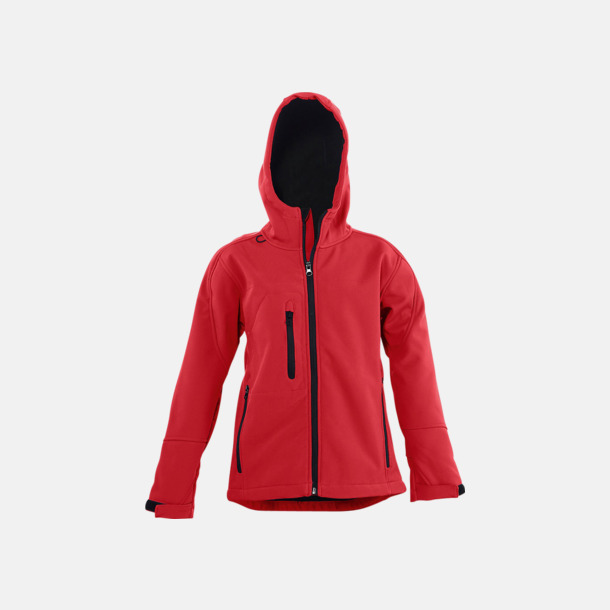 Pepper Red (barn) Softshell jackor i herr-, dam- & barnmodell med reklamtryck