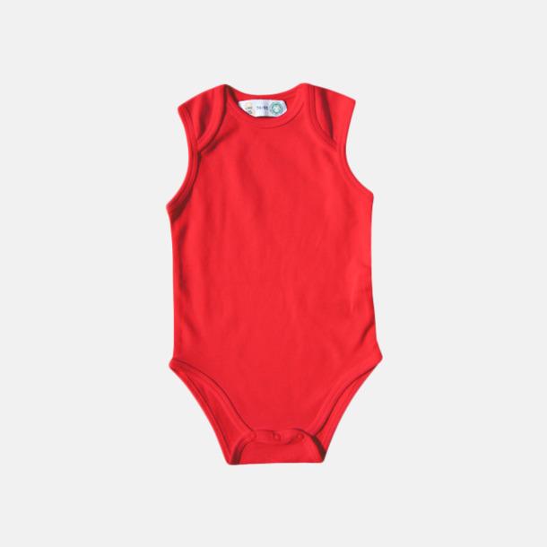 Röd Ekologiska bodyvästar för bebisar med reklamtryck