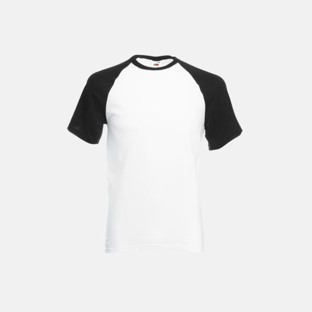 Vit/Svart T-shirtar med reklamtryck