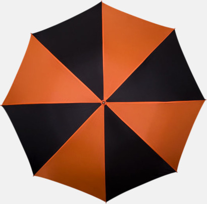 Orange / Svart Golfparaplyer med ergonomiska trähandtag