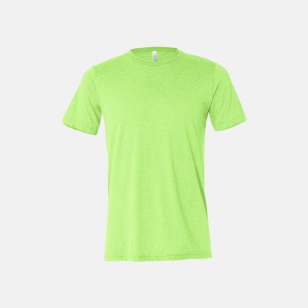 Neon Green Unisex t-shirts i spräckliga färger med reklamtryck