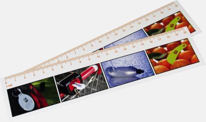 Vit 30 cm-skallinjal med reklamtryck