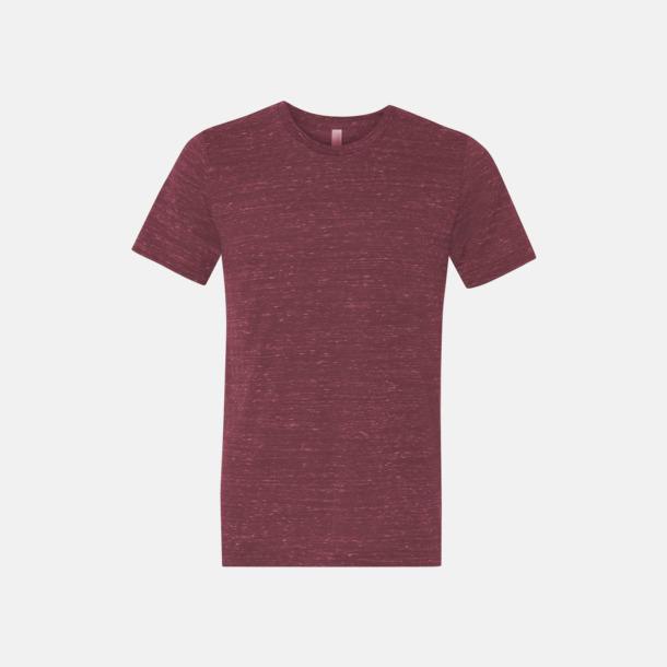 Marble Maroon (heather) Unisex t-shirts i spräckliga färger med reklamtryck