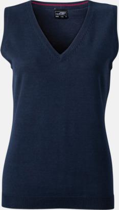Marinblå Pullovers med eget tryck