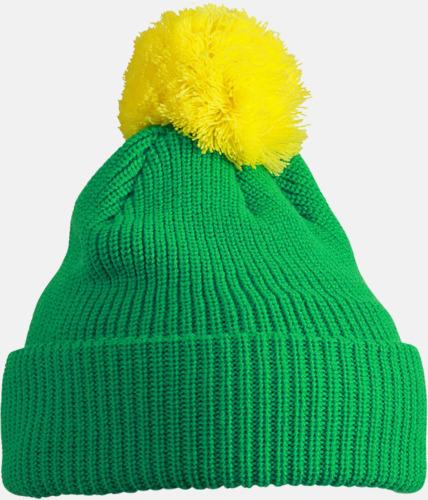 Grön/gul Toppluvor med uppvik - med brodyr