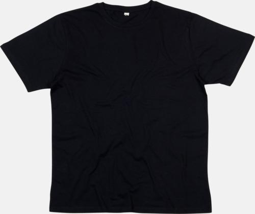 Svart Ekologiska t-shirts i herrmodell med reklamtryck