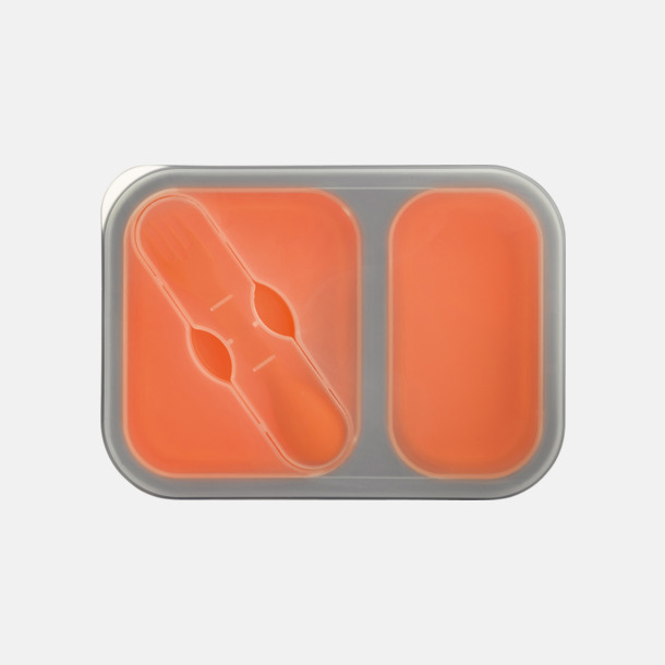 Orange Silikonmatlådor med reklamtryck