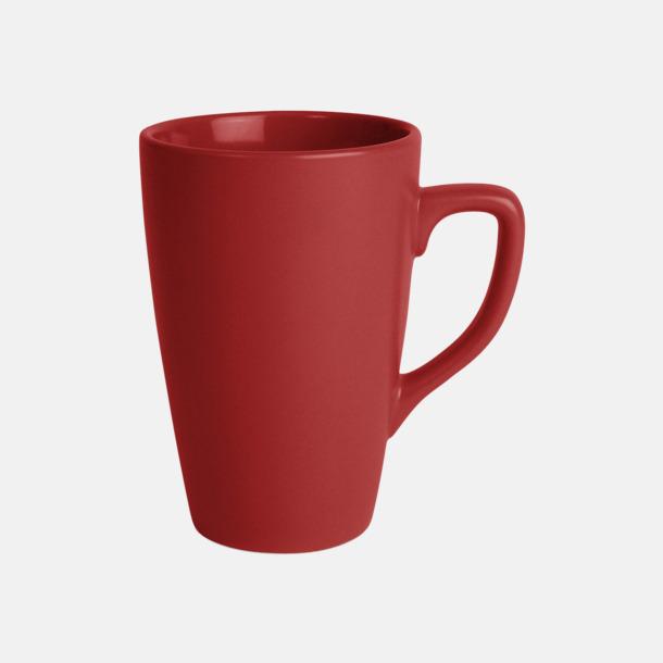 Röd Klassiska kaffemuggar med eget tryck