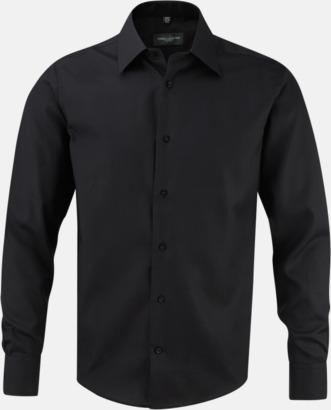 Svart (långärmad) Strykfri businessskjorta