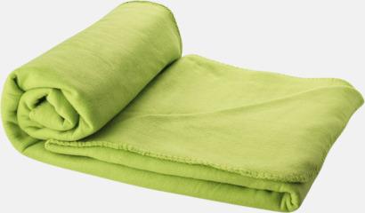 Limegrön Fleecefilt och bag - med tryck