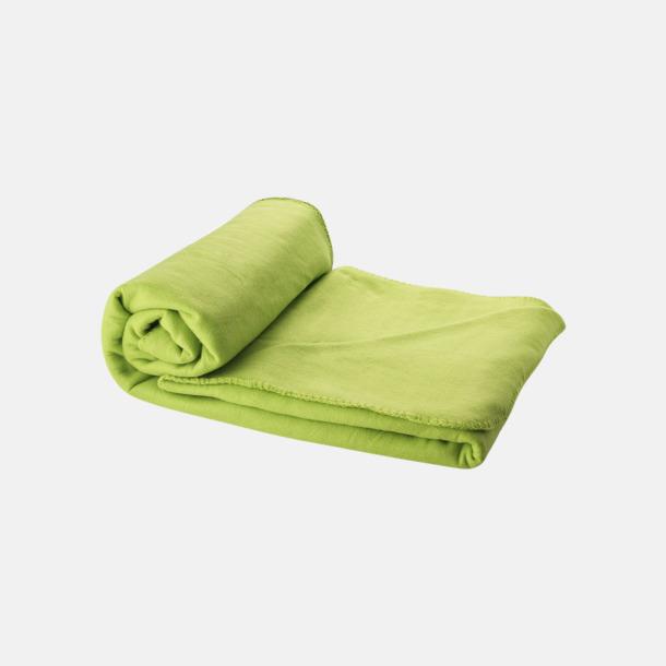 Limegrön Fleecefilt och bag - med reklamtryck
