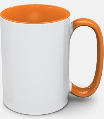 Orange Stengodsmuggar med valbar färg på insidan