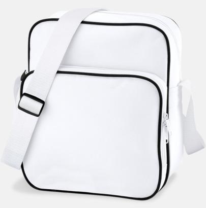 Vit/Svart Mindre väska med eget reklamtryck