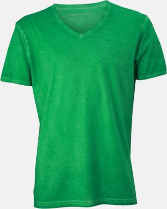Fern Green (herr) Trendiga v-neck t-shirts i herr- och dammodell med reklamtryck