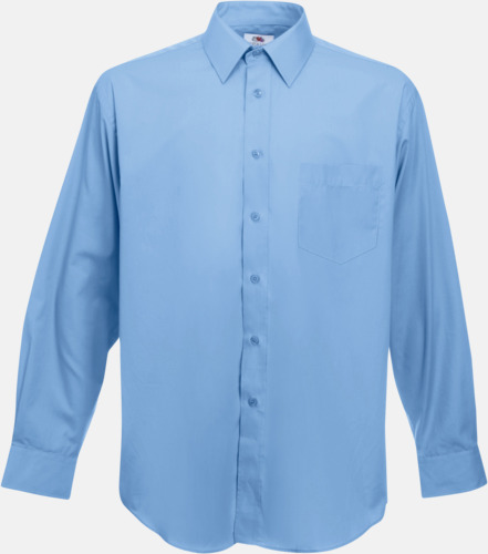 Mid Blue Long Sleeve Poplin Shirt