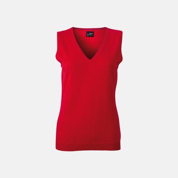 Röd Pullovers med eget tryck