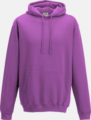 Pinky Purple Billiga collegetröjor i unisexmodell - med tryck
