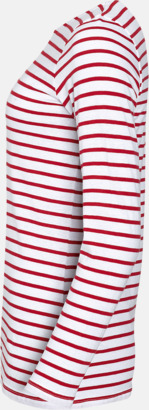 Randiga, långärmade herr- & dam tröjor med reklamtryck