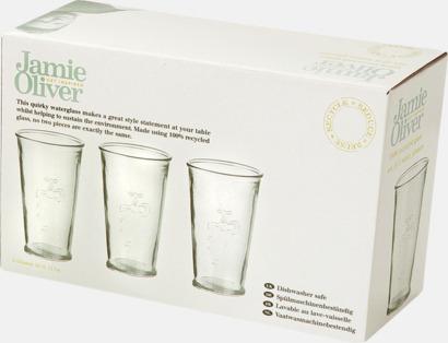 Presentförpackning Set med 3 återvunna glas med reklamtryck