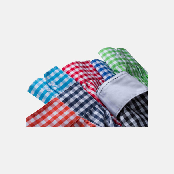 Rutiga bomullsskjortor & -blusar med reklamtryck