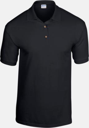 Svart Billiga herrpikétröjor med tryck