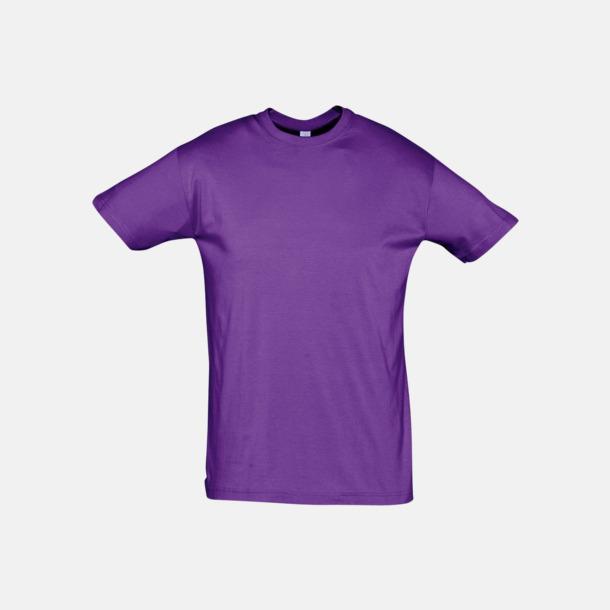 Ljuslila Billiga unisex t-shirts i många färger med reklamtryck