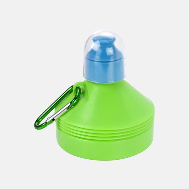 Ljusgrön Hopfällbara 60 cl vattenflaskor med reklamtryck