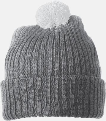 Grå / Ljusgrå Stickade toppmössor med reklambrodyr