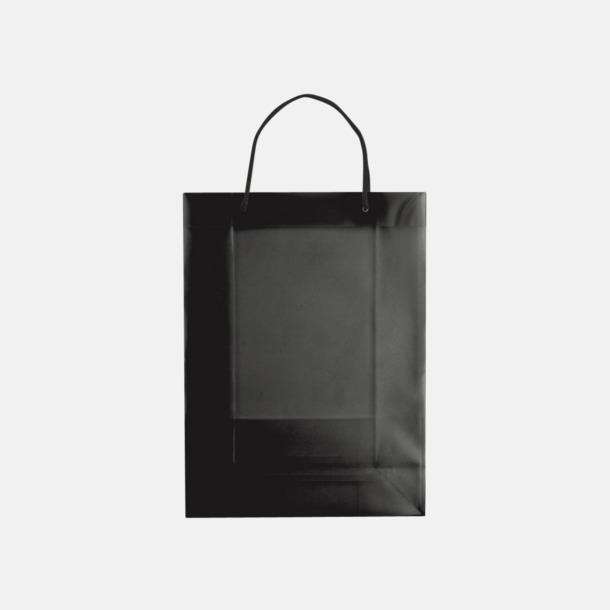 Transparent Svart (stor) Butikskassar i 2 storlekar med reklamtryck