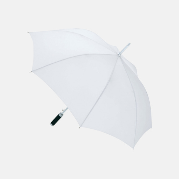 Vit Paraplyer med reklamtryck